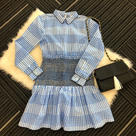 1e17d996 Ganni Dresses & Skirts - Ganni Charron Gingham Peter Pan collared dress